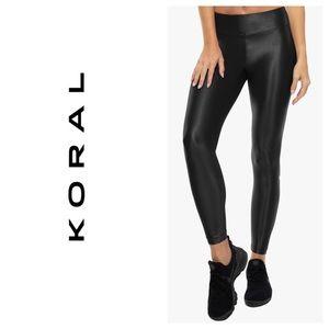 Koral Shiny Black Leggings